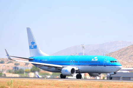 klm dutch royal airline in alicante airport, spain