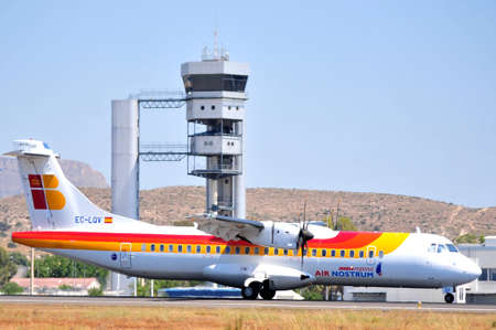 iberia express airline in airport of alicante, spain