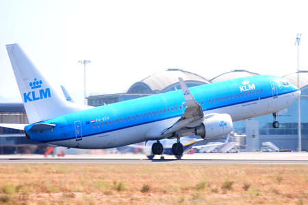 klm royal dutch airline alicante airport, spain