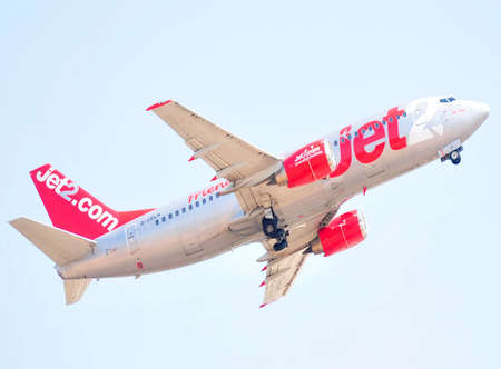jet 2 com airlines arrival to airport of alicante, spain