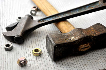 clasical tools for construction or plumb activities  photo