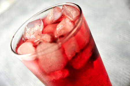frozen bitter red refreshing hot summer drink