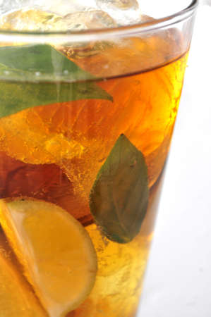elaboration: cold drinks ice tea clasical elaboration frozen and cold beverage