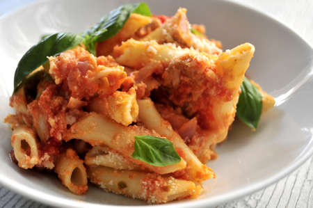 elaboration: cheese with pasta macaroni clasic italian food elaboration restaurant Stock Photo