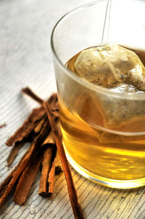 cinammon: tea with stick of cinammon flavour and taste