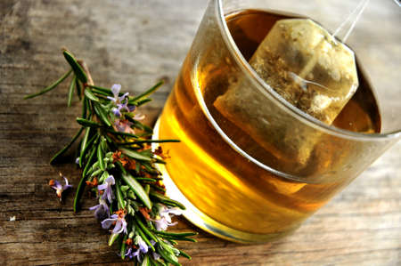 tea rosemary infusion  Stock Photo