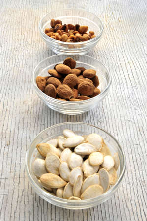 pumpkin almonds and nuts snack appetisers