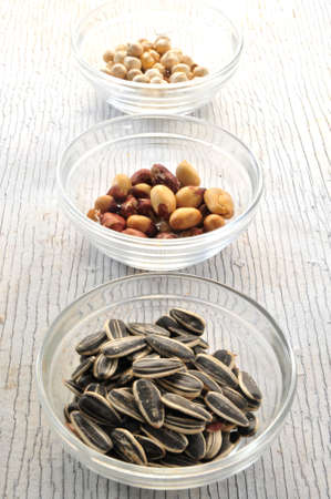 pumpkin seed, nuts and almonds snack photo
