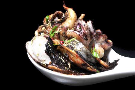 octopus galician style  pulpo a la gallega  , spanish tapas dish  photo