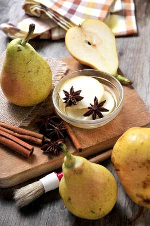 elaboration: pear cake pie elaboration pastry