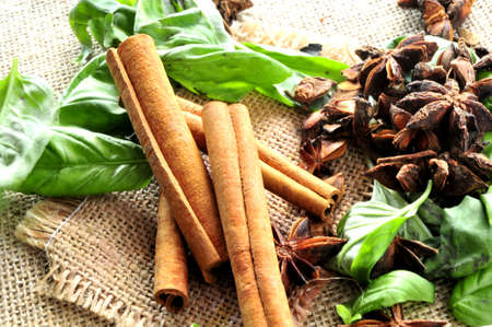 cinammon: cinammon sticks and spices
