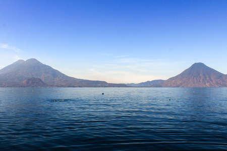 Lake atitlan views from Panajachel side at morning Stock fotó