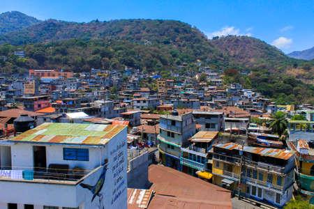 Colorful houses views of San Pedro de la Laguna