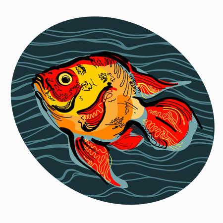 Colorful illustration of fish
