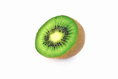 juicy ripe sweet kiwi on white background