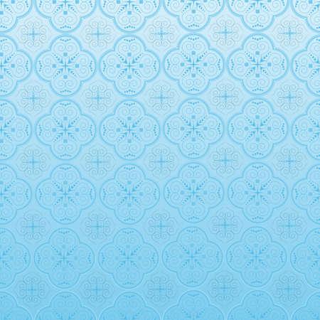crocket: Seamless ornamental wallpaper, floral pattern, illustration  Illustration
