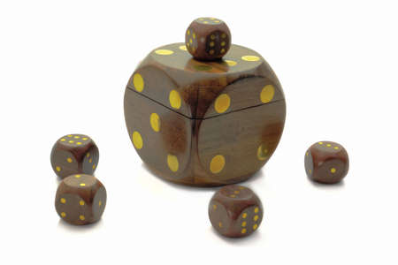 cubes for game of casino and gift