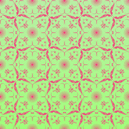 linoleum: Seamless ornamental wallpaper, floral pattern, illustration, background
