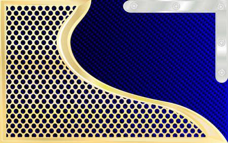 background gold and carbon to pocket Illustration