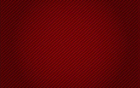 red background from woven Carbon Fiber Vector