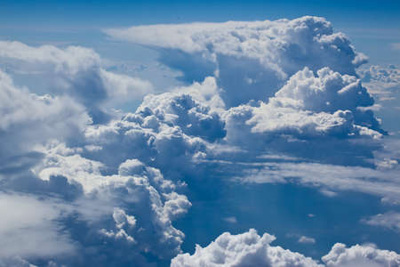 blue sky on white soft cloud height Stock Photo