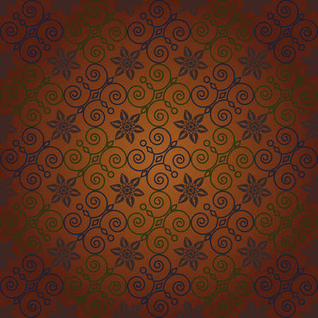 Seamless ornamental wallpaper, floral pattern, illustration, background