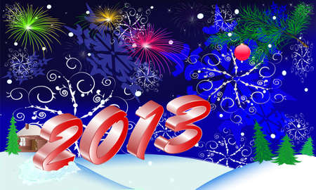 new year s postcard on 2013 for congratulation Vector