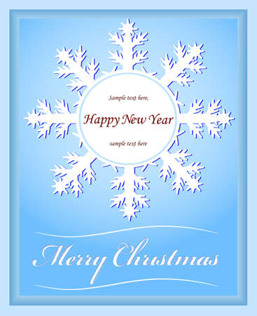 card a snowflake for new year and christmas Stock Vector - 16418702