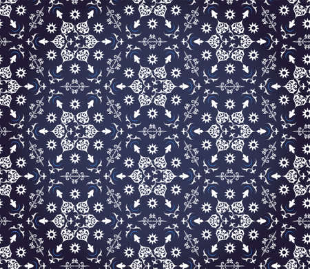 linoleum: floral ornament for seamless background, wallpaper or fabrics Illustration