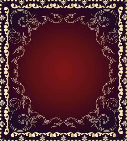 floral ornament for seamless background, wallpaper or fabrics Illustration