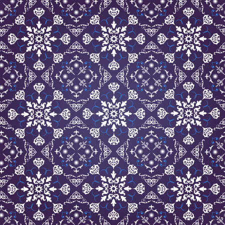 floral ornament for seamless background, wallpaper or fabrics Vector