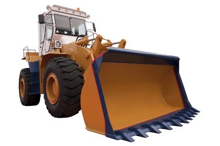 Bulldozer Isolated on White photo