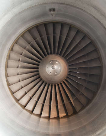 A turbine of a modern aircraft off photo