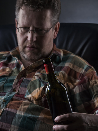 drunkard: Alcohol may cause big problems Stock Photo
