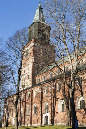 turku: The old cathedral of Turku, Finland Stock Photo