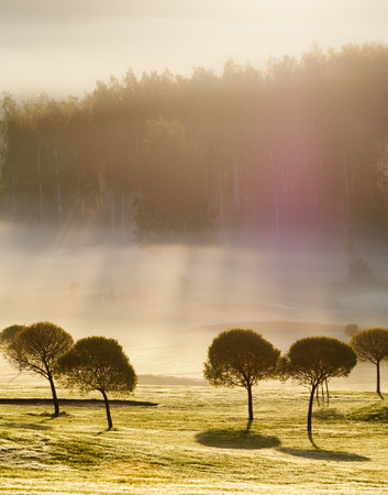 Morning view on a golf course in Espoo, Finland Reklamní fotografie