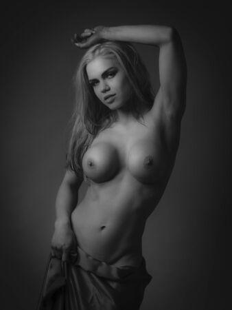 nude young woman: Nude young woman in studio