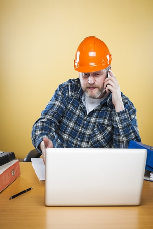 50 54 years: Engineer is calling his client