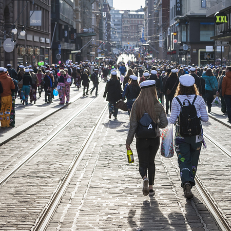especially: May Day Eve is a traditional carnival day in Finland, Especially for the students. Editorial