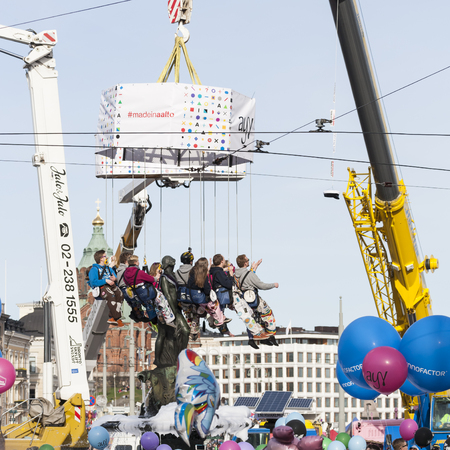 amanda: May Day Eve is a traditional carnival day in Finland, Especially for the students. Editorial