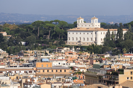 villa borghese: The Palace of Medici in Villa Borghese in Rome