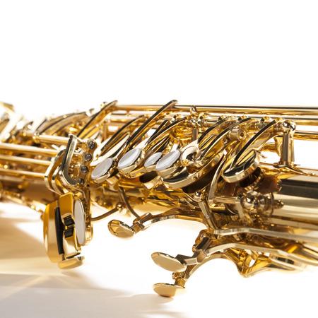 tenor: Close up of tenor saxophone