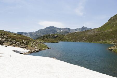 pyrenees: Summer landscape of the Pyrenees, Andorra Stock Photo