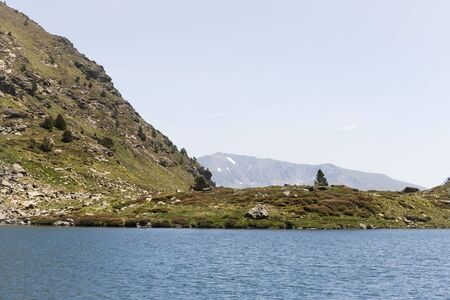 andorra: Summer landscape in the Pyrenees in Andorra Stock Photo