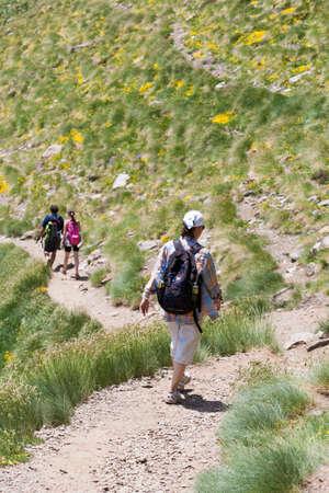andorra: Hikers in Andorra