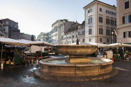dei: Piazza Campo dei Fiori in Rome, Italy