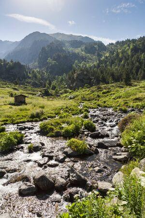 andorra: Summertime in Andorra Stock Photo