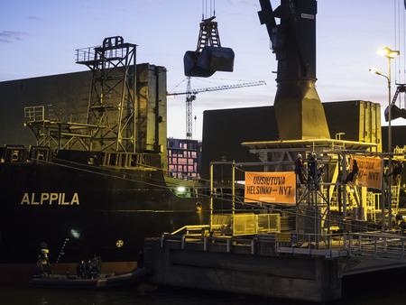 greenpeace: Greenpeace activists in Helsinki Editorial