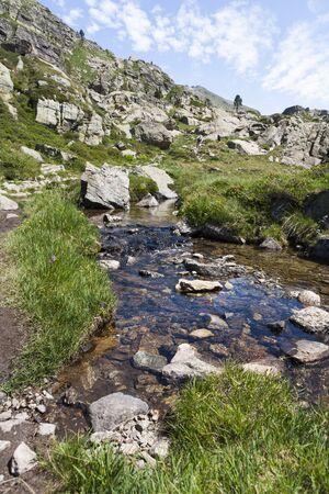 andorra: Hiking View in Andorra Stock Photo
