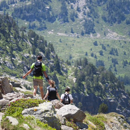 pyrenees: Hikers in the Pyrenees